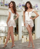 10028 Dreamgirl lace corset outerwear