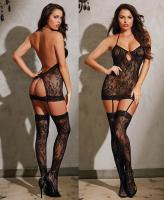 0258 Dreamgirl, lace garter dress