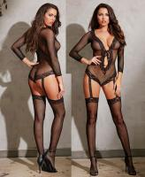 0269 Dreamgirl, Stretch fishnet long sleeved