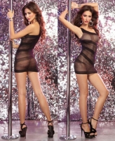 9753 Dreamgirl, Seamless stretch fishnet dress