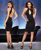 9779 Dreamgirl, Unlined Ponte knit neck fitted dress