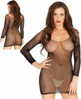 81529 Leg Avenue, Ring net long sleeved mini dress.