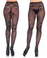 9756 Leg Avenue, Seamless allure net and lace tights.