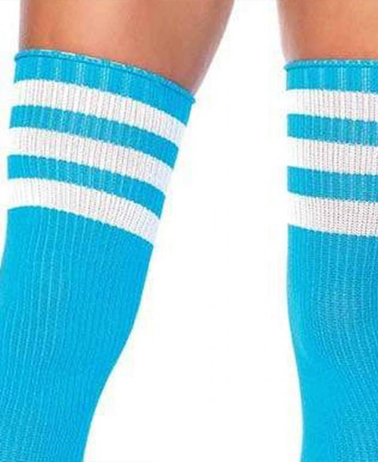 6605 Leg Avenue Stripes athletic thigh