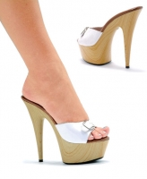 609-Barbara Ellie Shoes, 6 inch pointed heels Platforms Wood shoes