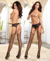 0215 Dreamgirl Raw top diamond net thigh high stockings