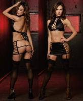 10560 Dreamgirl faux leather look garter