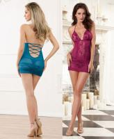 9668 Dreamgirl, Scalloped stretch lace chemise