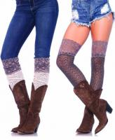 6915 Leg Avenue knee slouch socks wide lace top