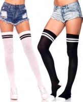 6919 Leg Avenue, Ribbed athletic thigh highs