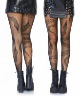 8143 Leg Avenue Black Snake net tights