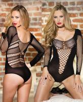 90383 Shirley Of Hollywood, Stretch knit long sleeve teddy
